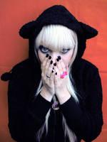 Coat Hood Bear Cherry Girl by cherrybomb-81