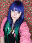 Scene Hair Blue Green Girl