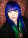 Blue Green Hair Cherry Girl