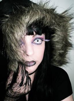 Crazy purple black dark makeup face cherrybomb81