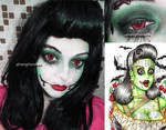 Pinup zombie Girl Halloween Inspired Look