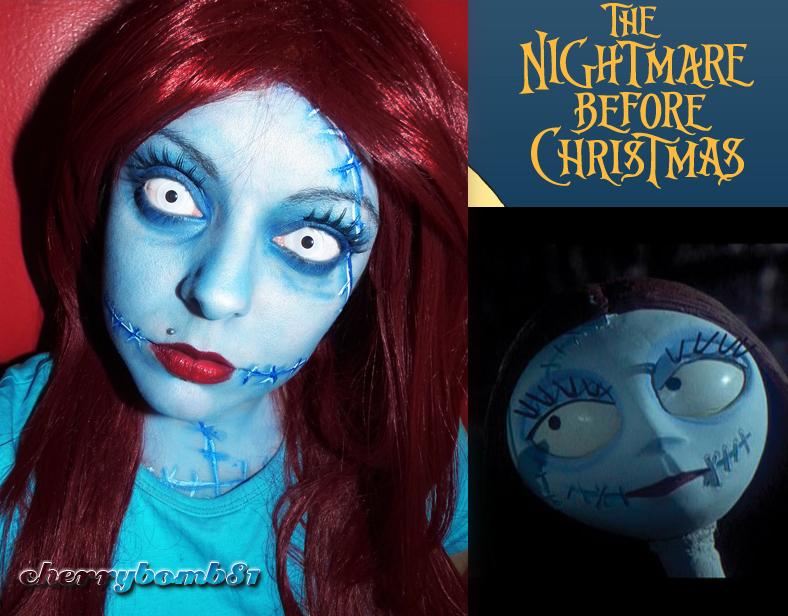 Halloween makeup Sally Nightmare Before Christmas by cherrybomb-81 ...