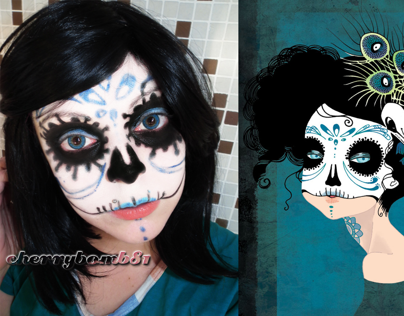 Cute Skull Makeup Images u0026 Pictures - Becuo