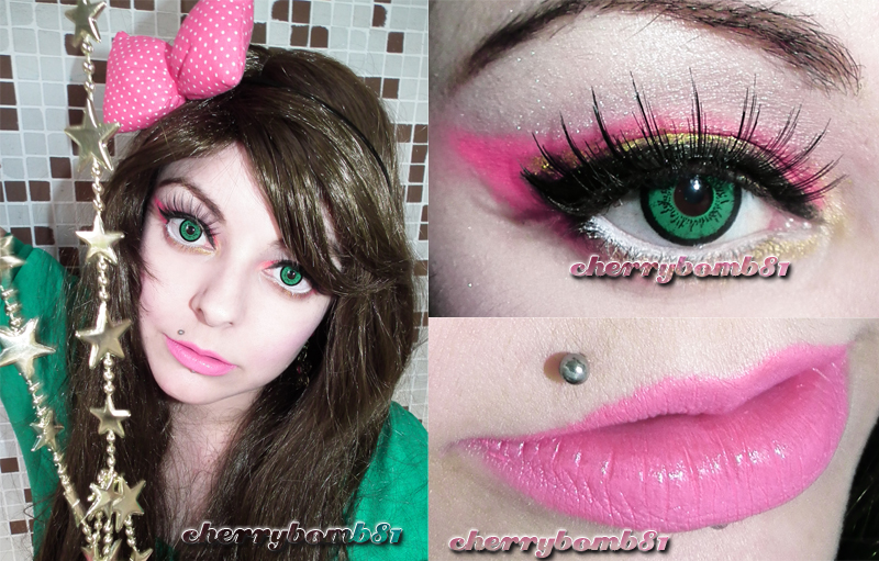 Makeup Cute Romantic Pink Gold Look by cherrybomb-81
