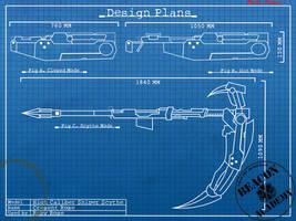 RWBY : Crescent Rose blueprints by crypticspider