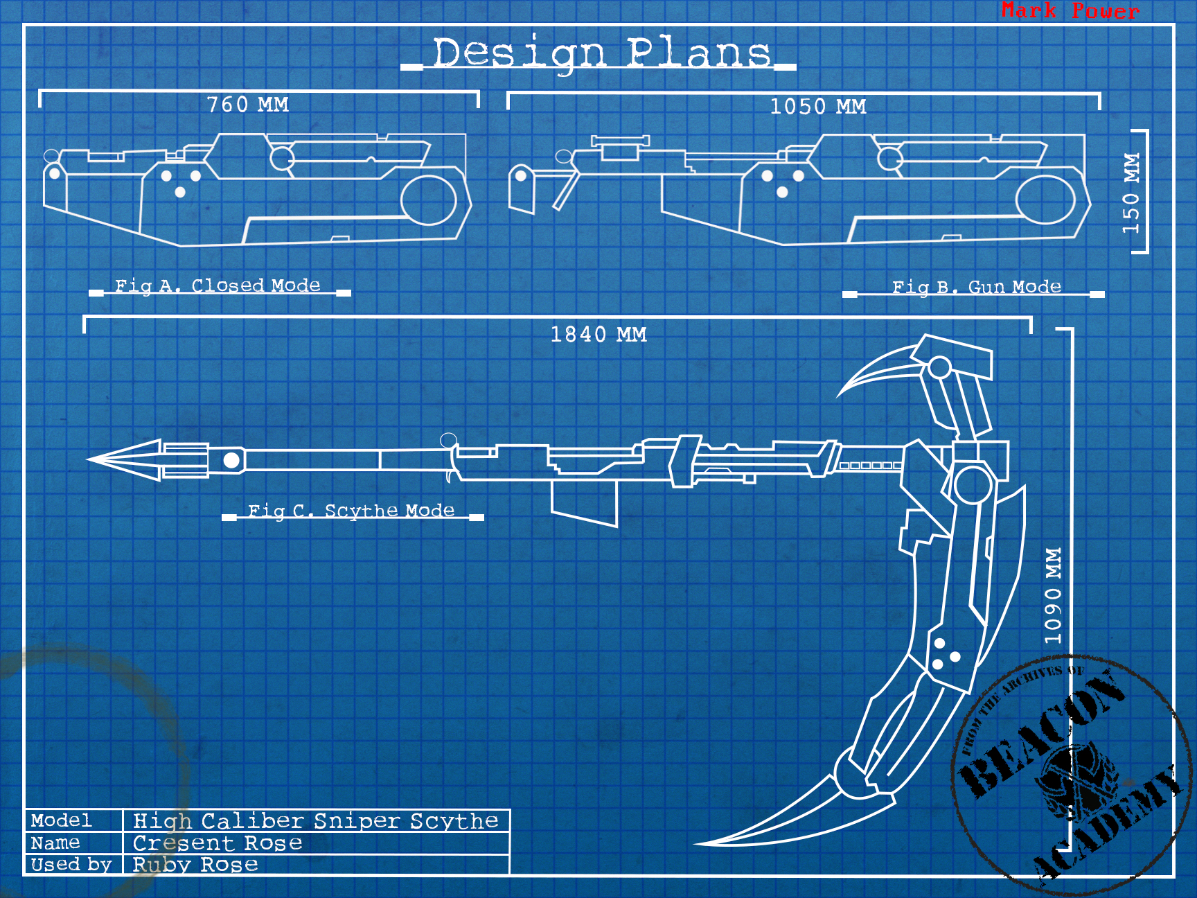 Rwby Crescent Rose Blueprints By Crypticspider On Deviantart