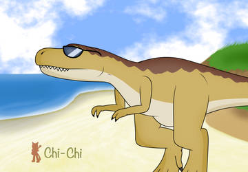 Rex on the Beach by Chi-ChiTheCat