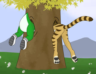 Stratty and Chi-Chi Stucc in a Tree by Chi-ChiTheCat