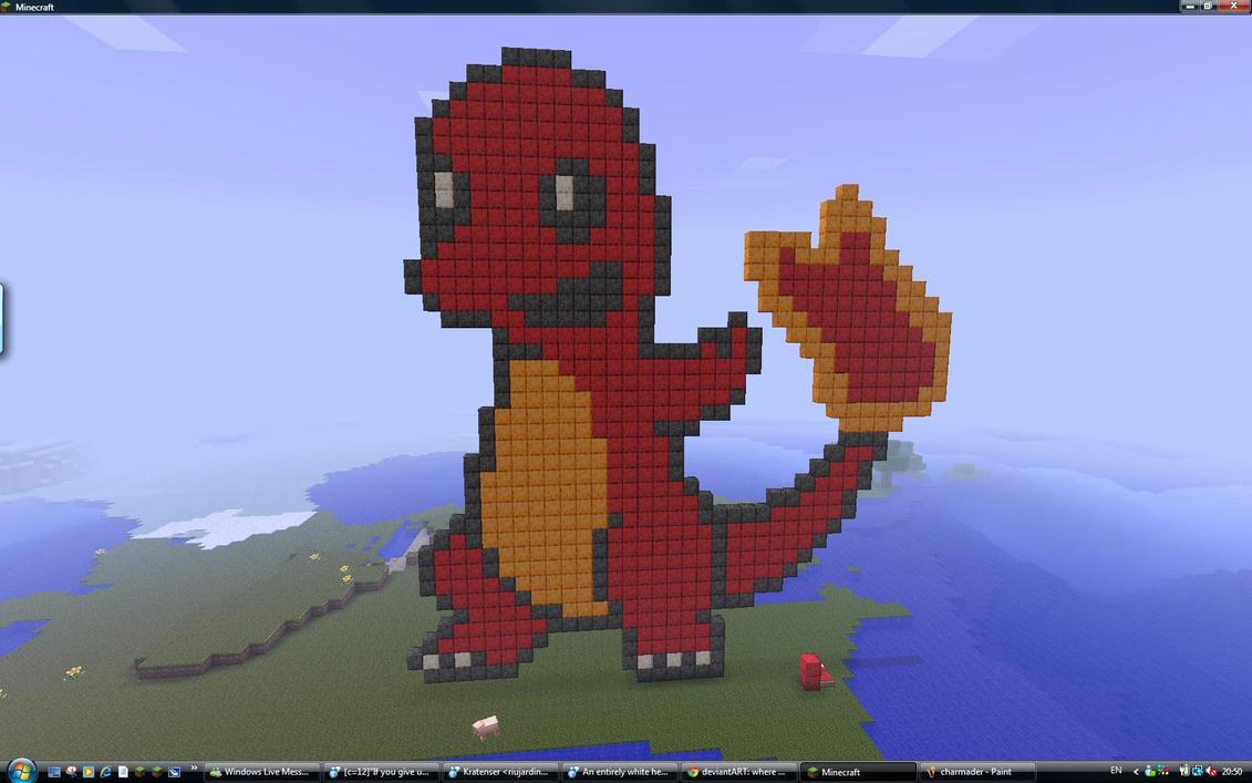 Charmander Pixel Art Template Charmander pix