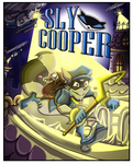 Sly Cooper Comic Cover Commission