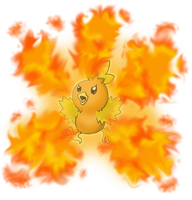 Torchic Flame Burst by shinragod