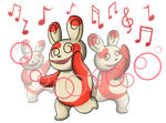 Spinda Teeter Dance by shinragod