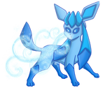 Glaceon Icy Wind by shinragod