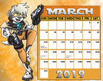March 2019 - Shining Wolf Tracer by shinragod