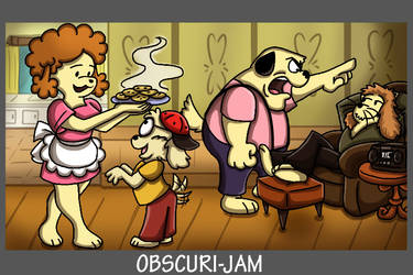 Obscuri Jam - Agnes and the Rest of The Barkleys by shinragod