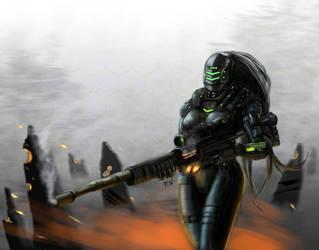 Concept art : Future sniper by PLSN