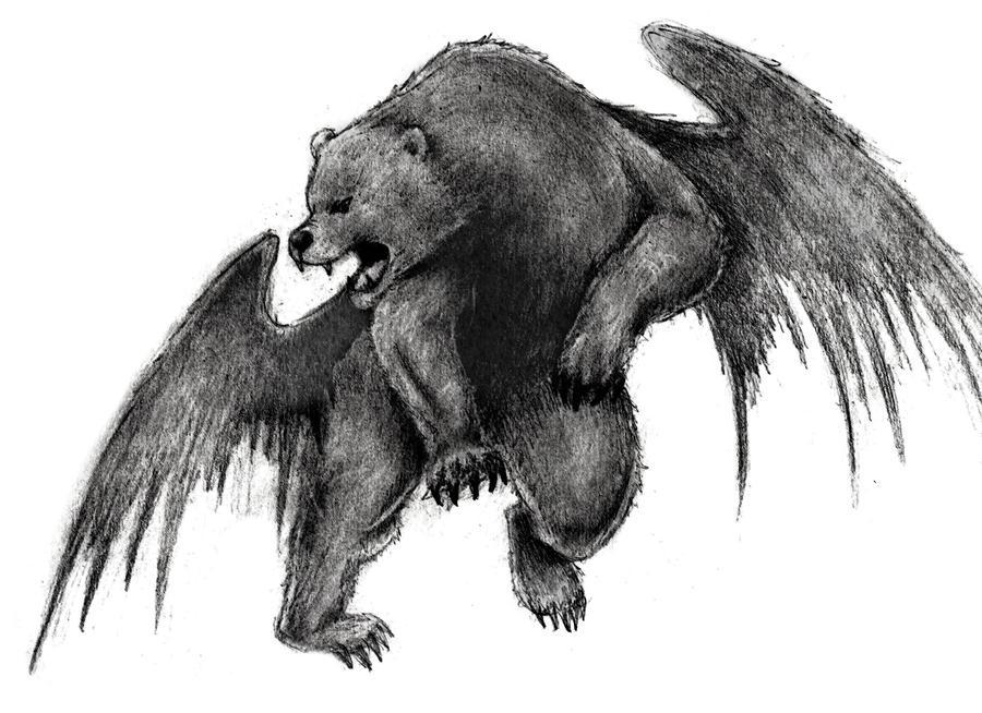 Winged Bear by Vorix