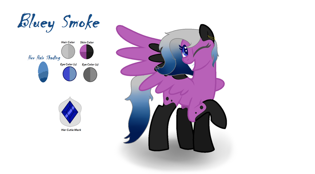 Bluey Smoke MLP Character (based by me) by xXGamerGirlKAXx