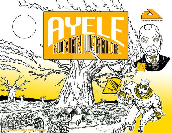 AYELE NUBIAN WARRIOR Poster 001 by cjjuzang