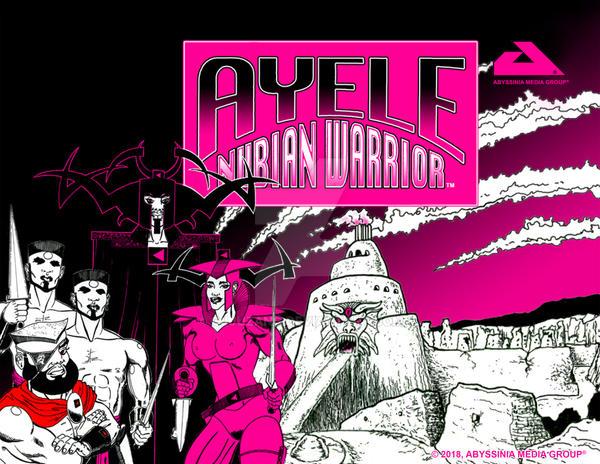AYELE NUBIAN WARRIOR Poster 003 by cjjuzang