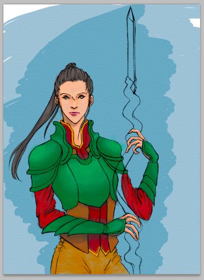 Spear Lady // 02 by Vega-Highwell