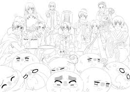 anime hetalia coloring pages - photo#28