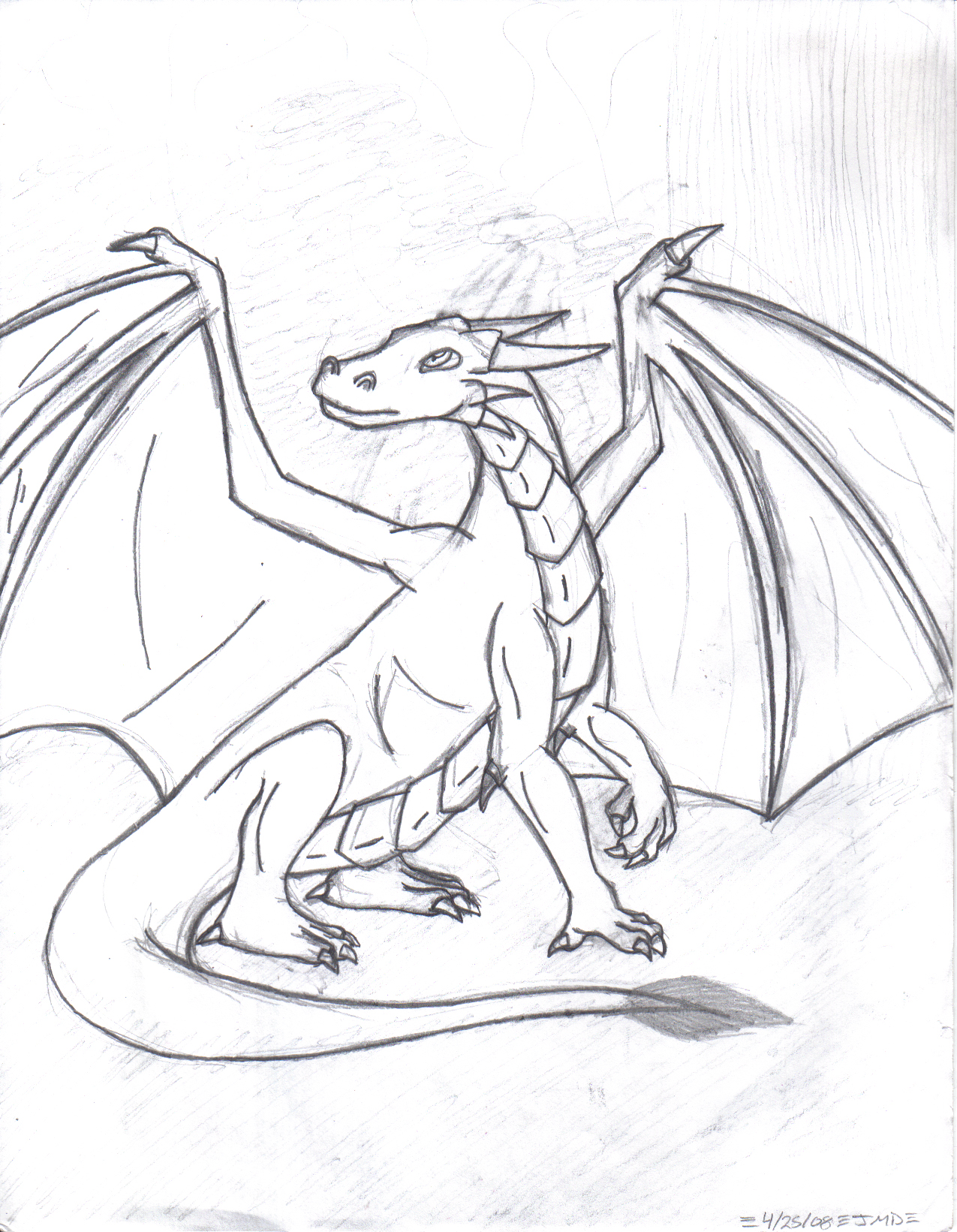 sitting dragon by nagoshi on deviantart