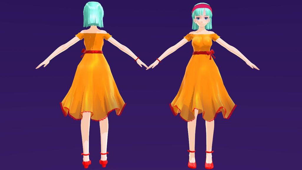 [MODEL DL] - Bulma Namek Dress by YukinaSaturne