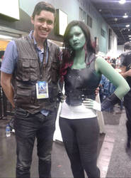 Owen Grady and Gamora by Jpstudios11