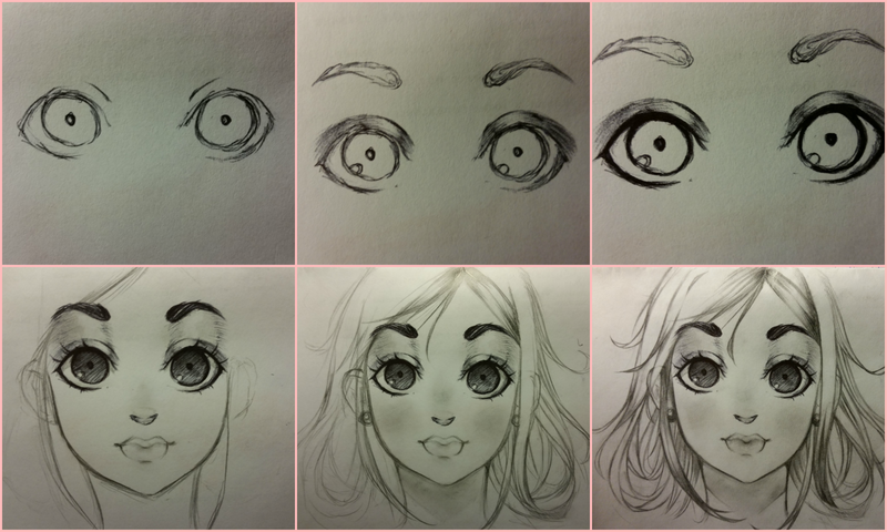 Step by step anime girl by juliichi