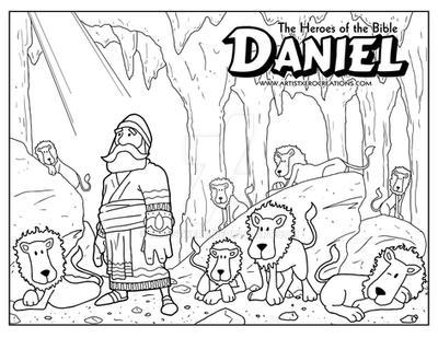 artistxero 26 15 daniel coloring page by artistxero - Daniel And The Lions Den Coloring Page