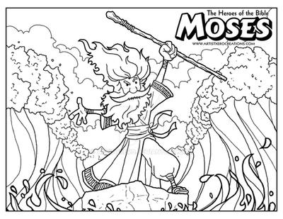 free printable moses coloring pages for kids. captivating moses ...