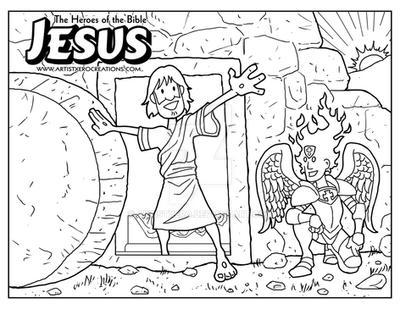 jesus coloring page by artistxero