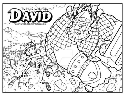 David Coloring Page by ArtistXero on DeviantArt
