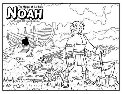 Noah Coloring Page by ArtistXero