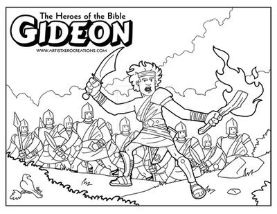 Gideon coloring page by ArtistXero