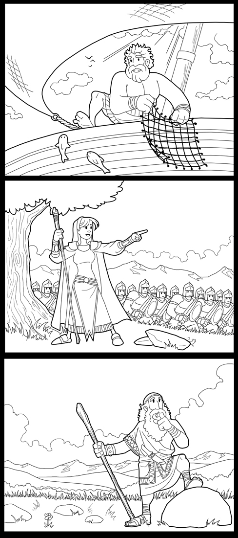New Bible Hero Coloring Pages By ArtistXero On DeviantArt