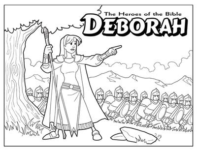 6800 Top Bible Coloring Pages Deborah For Free