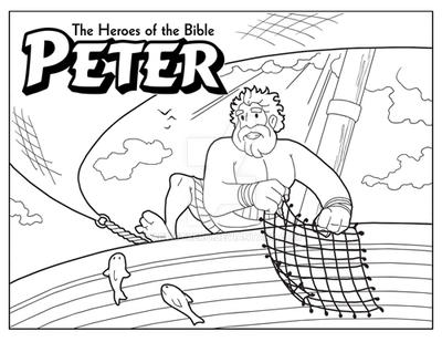 peter coloring page by artistxero