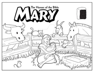 Mary coloring page by ArtistXero