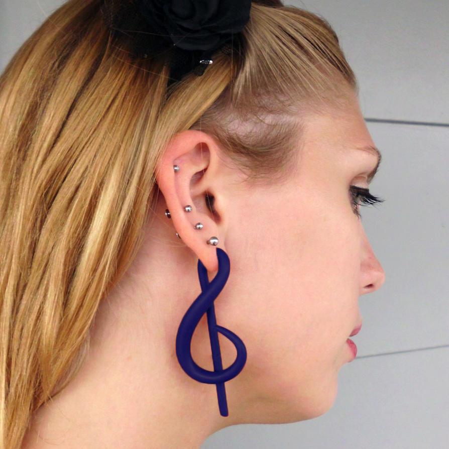Treble Clef Fake Gauged Earrings By Jenetics On Deviantart