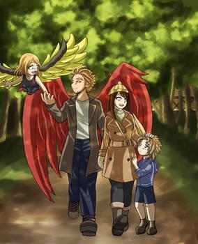 Hawks x Kirameki - Family time (BNHA OC)