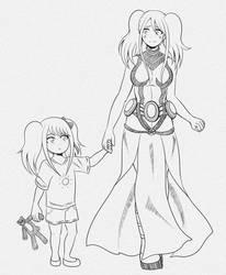 Adult VS Child self (BNHA OC)
