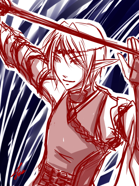Doodle : Blood Elf 04022011 by Michron