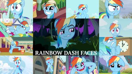 Rainbow Dash Faces