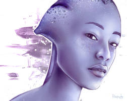 A Blasian Asari by Rhapsody-In-White