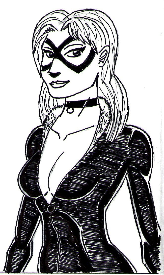 Black Cat smiling by Amaro-House