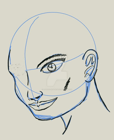 Face in MyPaint by Amaro-House
