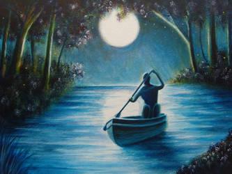 The Boatman. by RichWalker