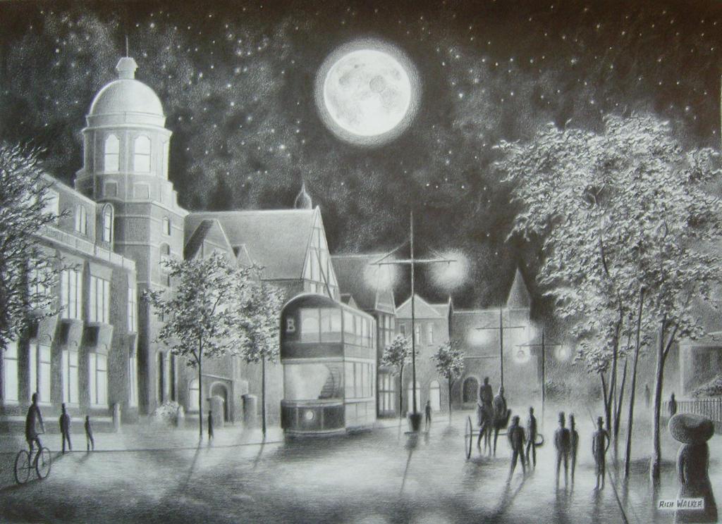 A Moonlit Stroll. by RichWalker